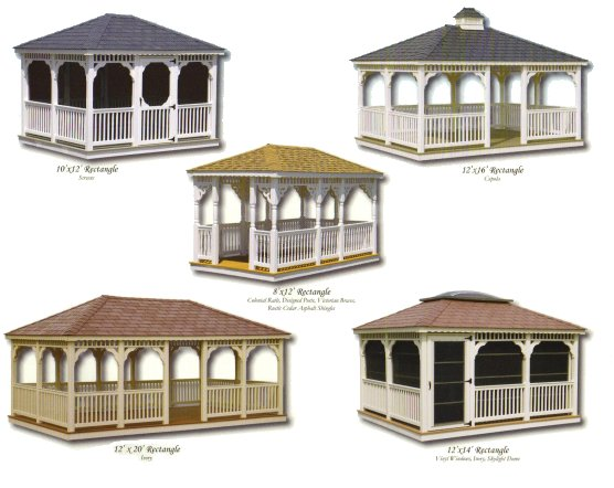 Vinyl Rectangle Gazebos
