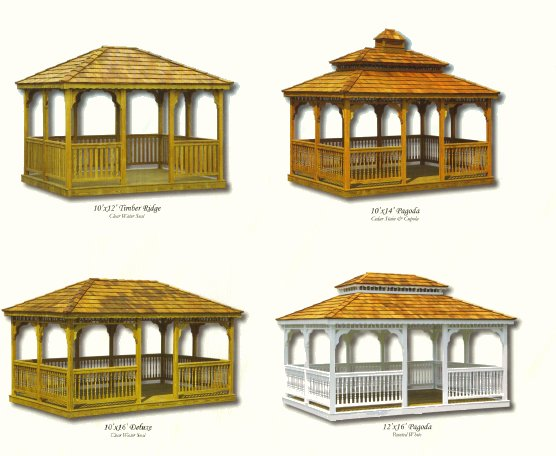 Wood Rectangle Gazebos