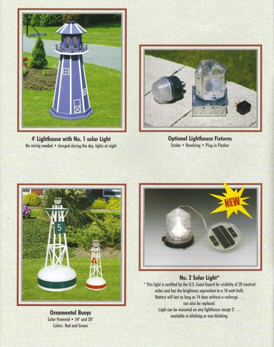 Lighthouse optional light fixtures