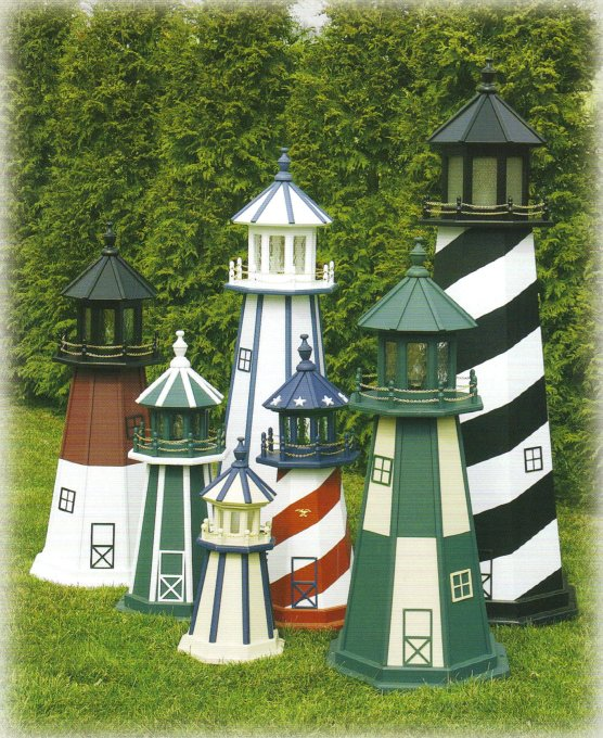 Outdoor home center lawn decor lighthouses for Outside house ornaments