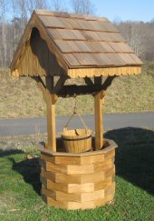 Wood Wishing Well