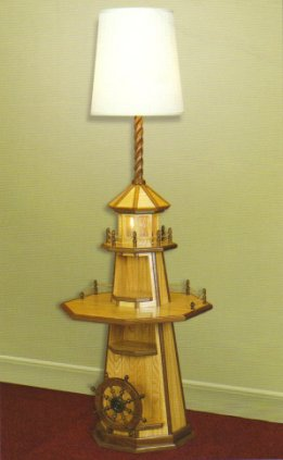 Oak Lighthouse Floor Lamp