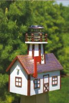 Mailbox Lighthouse with Solar Light