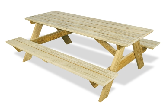 plans for picnic table with attached benches | Quick Woodworking ...