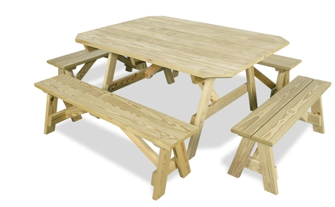 Picnic Table with Detached Seats | Serenity Series
