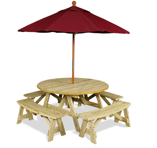 Beach Parasol Umbrellas or Picnic Table Sun Shades by Picnic Time.