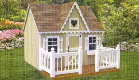 Playhouse 6x8 P.V.C. Railing and Deck