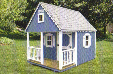 Playhouse 8x10 Boys Club House with Loft and Ladder