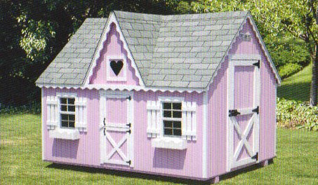 Playhouse 8x10 with Heart Window