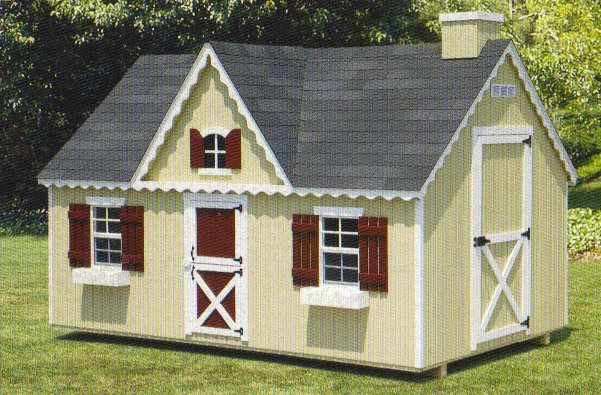 Playhouse 8x12 Chimney and Victorian Window