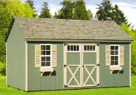 Wood A-Frame Shed
