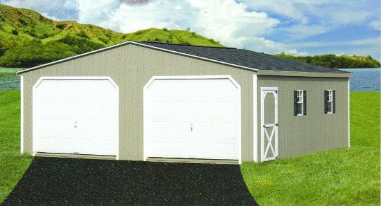 Shed project instant get storage sheds home depot prices for Two car garage shed