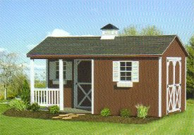 More backyard storage sheds home depot shedbra for Sheds with porches for sale
