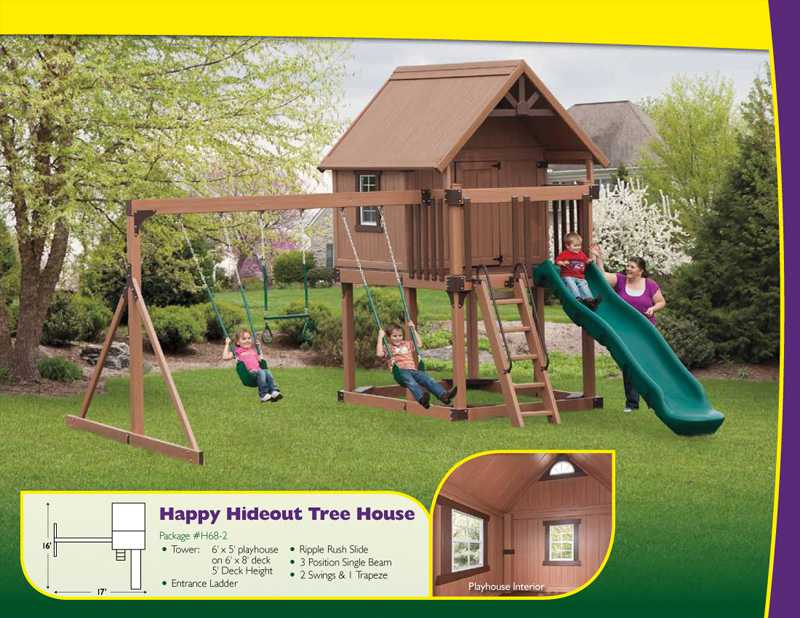 Outdoor Home Center Swings Amp Playsets Happy Hideout